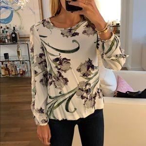 club Monaco ruffle sleeve blouse
